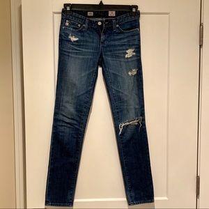 """AG """"the stilt"""" cigarette leg jean, size 24R"""